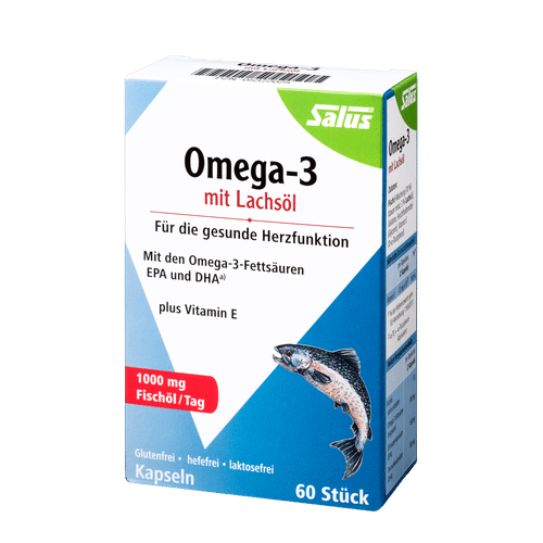 SALUS Haus Omega-3 capsules with salmon oil